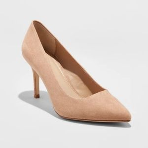 Nude Pointed Toe Pump